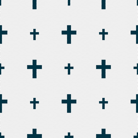 protection of the bible: religious cross, Christian icon sign. Seamless pattern with geometric texture. Vector illustration