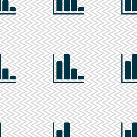 sales trend: Infographic icon sign. Seamless pattern with geometric texture. Vector illustration