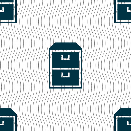 nightstand: nightstand icon sign. Seamless pattern with geometric texture.
