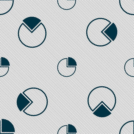 economic forecast: Infographic icon sign. Seamless pattern with geometric texture. Stock Photo