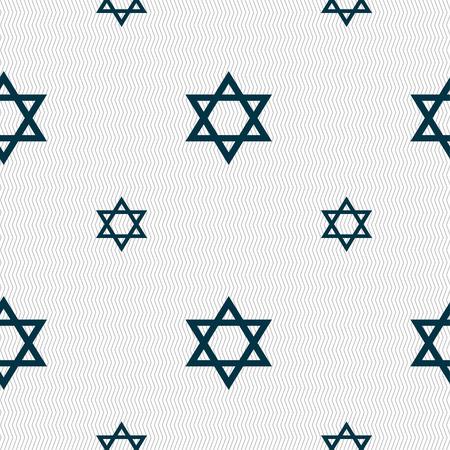 blasphemy: pentagram icon sign. Seamless pattern with geometric texture. illustration