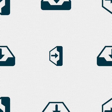 restore: Restore icon sign. Seamless pattern with geometric texture. illustration Stock Photo