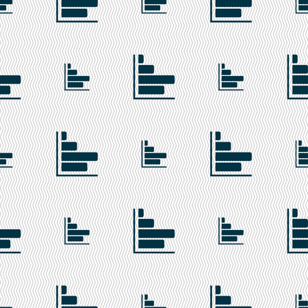 economic forecast: Infographic icon sign. Seamless pattern with geometric texture. illustration