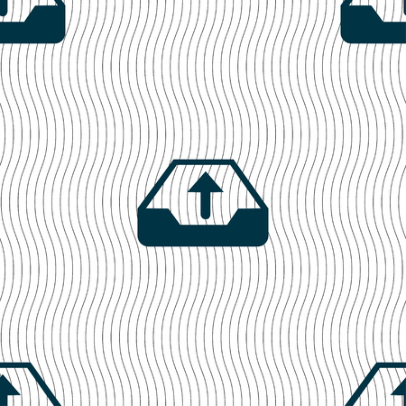 restoring: Backup icon sign. Seamless pattern with geometric texture. illustration Stock Photo