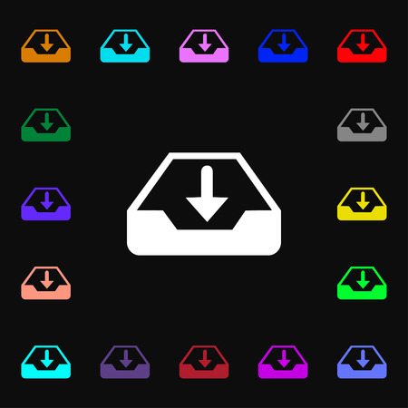 secure backup: Restore icon sign. Lots of colorful symbols for your design. Vector illustration