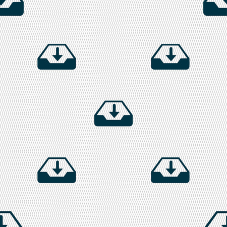 secure backup: Restore icon sign. Seamless pattern with geometric texture. illustration Stock Photo
