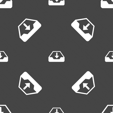 archiving: Restore icon sign. Seamless pattern on a gray background. illustration Stock Photo