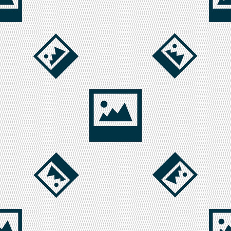 jpg: File JPG icon sign. Seamless pattern with geometric texture. illustration Stock Photo