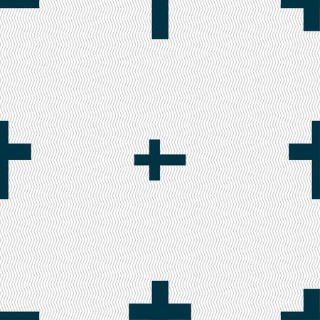 simbolos religiosos: Cruz religiosa, el icono de signo cristiano. Patrón sin fisuras con textura geométrica. ilustración Foto de archivo