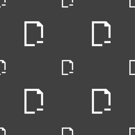 archive site: Remove Folder icon sign. Seamless pattern on a gray background. illustration