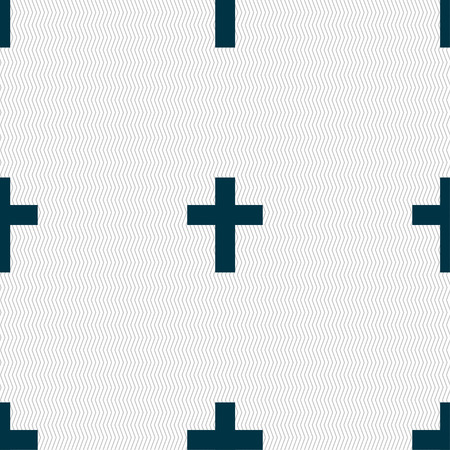 protection of the bible: religious cross, Christian icon sign. Seamless pattern with geometric texture. illustration Stock Photo