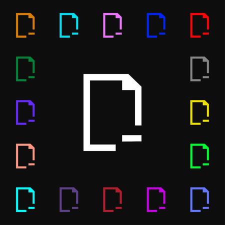 folder icon: Remove Folder icon sign. Lots of colorful symbols for your design. illustration