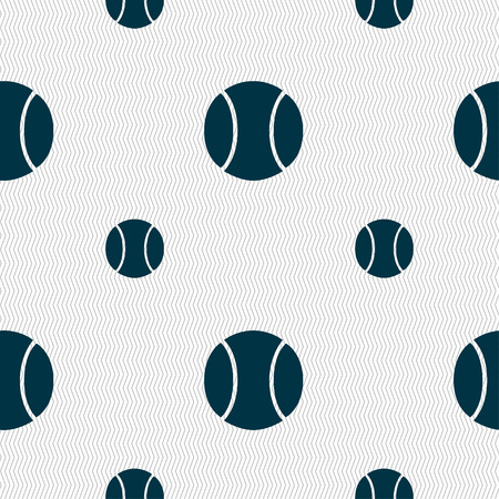 seams: baseball icon sign. Seamless pattern with geometric texture. illustration