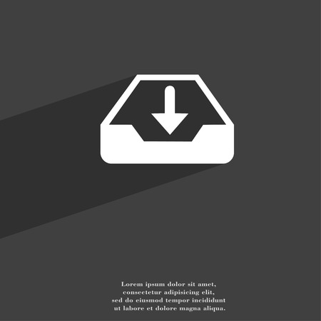 restore: Restore symbol Flat modern web design with long shadow and space for your text. illustration