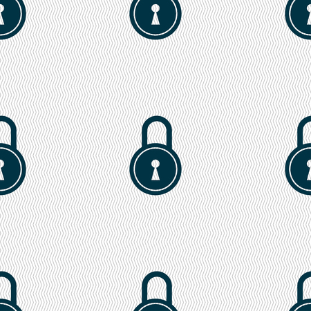 secret codes: closed lock icon sign. Seamless pattern with geometric texture. illustration Stock Photo