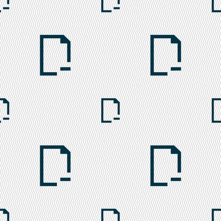 archive site: Remove Folder icon sign. Seamless pattern with geometric texture. illustration Stock Photo