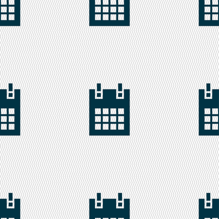 calendar page: calendar page icon sign. Seamless pattern with geometric texture. illustration