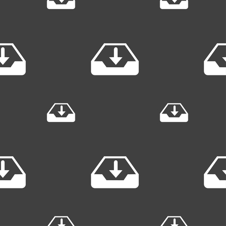 restore: Restore icon sign. Seamless pattern on a gray background. illustration Stock Photo