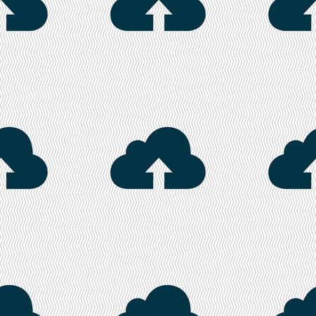 archiving: Backup icon sign. Seamless pattern with geometric texture. illustration Stock Photo