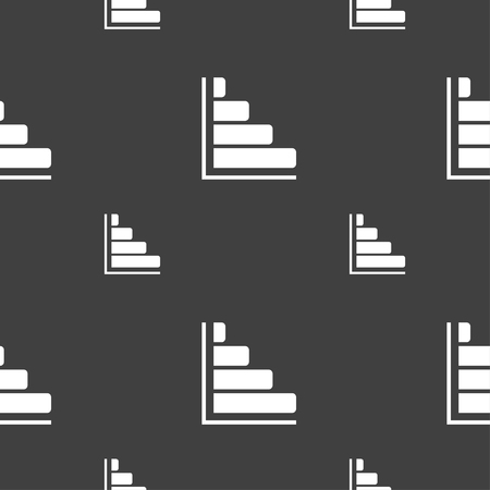 sales trend: Infographic icon sign. Seamless pattern on a gray background. illustration