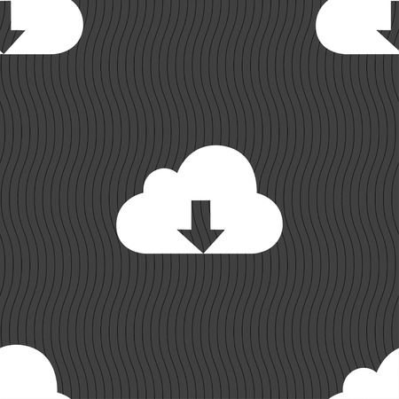 protected database: Backup icon sign. Seamless pattern on a gray background. illustration