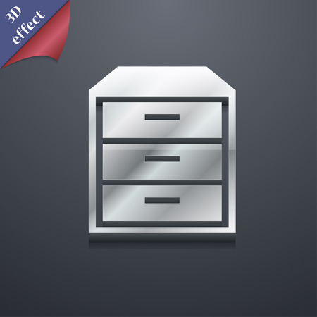 nightstand: nightstand icon symbol. 3D style. Trendy, modern design with space for your text illustration