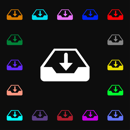 protected database: Restore icon sign. Lots of colorful symbols for your design. illustration