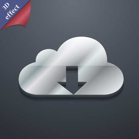 data recovery: Backup icon symbol. 3D style. Trendy, modern design with space for your text illustration Stock Photo