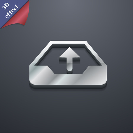 protected database: Backup icon symbol. 3D style. Trendy, modern design with space for your text illustration Stock Photo