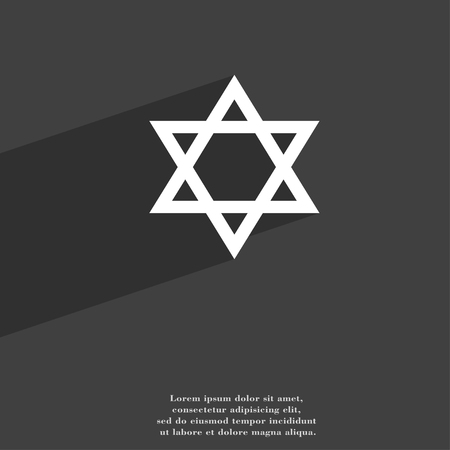 blasphemy: pentagram symbol Flat modern web design with long shadow and space for your text. illustration