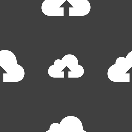 recover: Backup icon sign. Seamless pattern on a gray background. illustration
