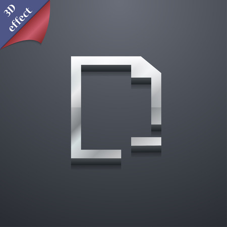 archive site: Remove Folder icon symbol. 3D style. Trendy, modern design with space for your text illustration Stock Photo