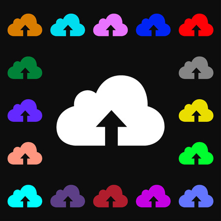 restoring: Backup icon sign. Lots of colorful symbols for your design. illustration Stock Photo