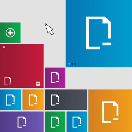 archive site: Remove Folder icon sign. buttons. Modern interface website buttons with cursor pointer. illustration