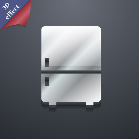 Refrigerator icon symbol. 3D style. Trendy, modern design with space for your text illustration