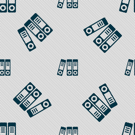 classify: binders  icon sign. Seamless pattern with geometric texture. Vector illustration