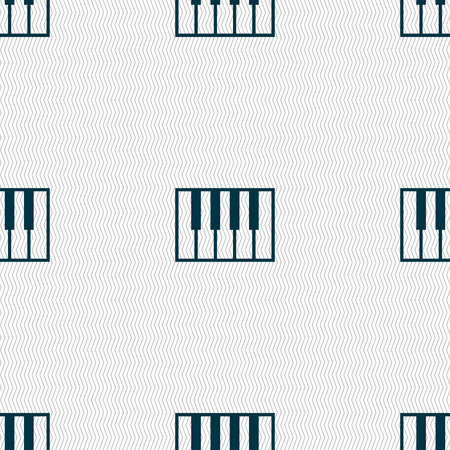 piano key: piano key icon sign. Seamless pattern with geometric texture. Vector illustration