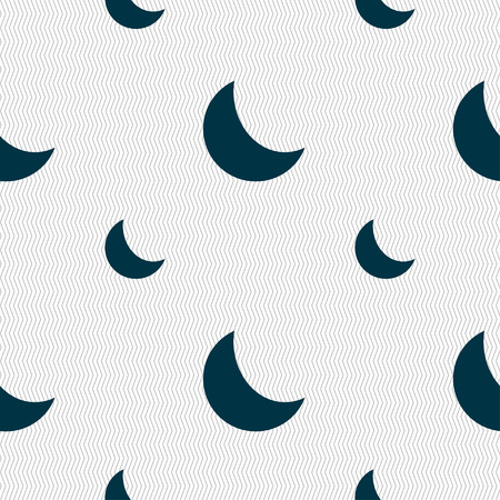 afterglow: moon icon sign. Seamless pattern with geometric texture. Vector illustration