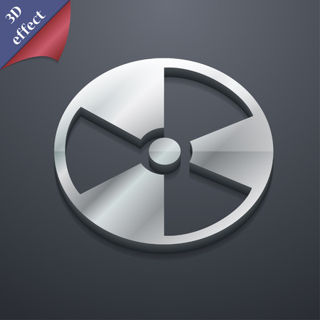 Radioactive Icon Symbol 3d Style Trendy Modern Design With