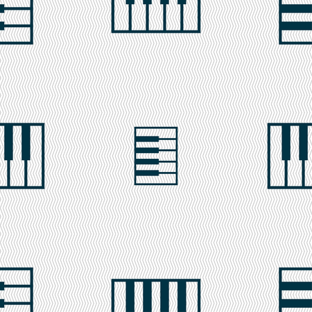 octave: piano key icon sign. Seamless pattern with geometric texture. Vector illustration
