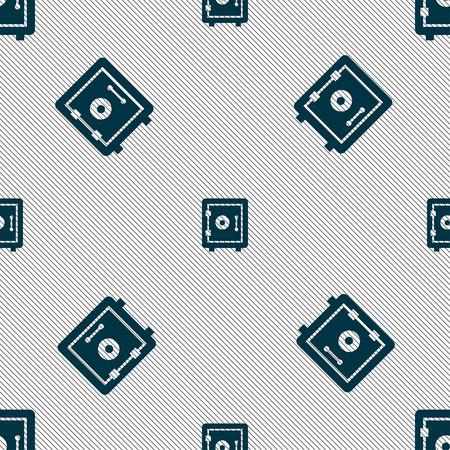 secret codes: safe icon sign. Seamless pattern with geometric texture. Vector illustration
