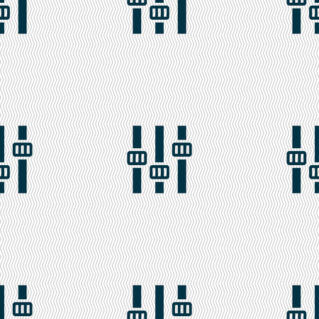 tile background: Equalizer icon sign. Seamless pattern with geometric texture. Vector illustration Illustration