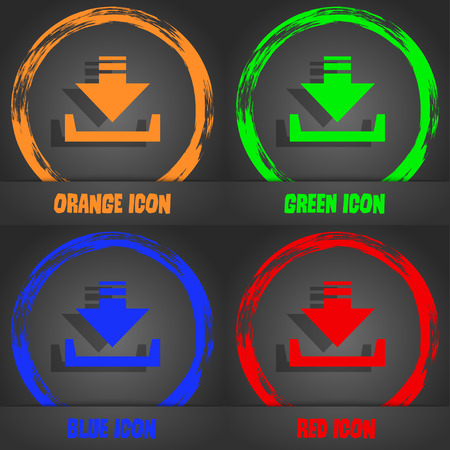 restoring: Restore icon. Fashionable modern style. In the orange, green, blue, red design. Vector illustration