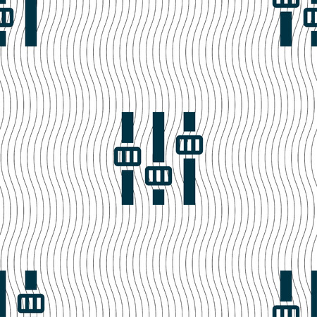 background information: Equalizer icon sign. Seamless pattern with geometric texture. Vector illustration Illustration