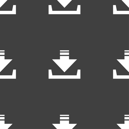 data archiving: Restore icon sign. Seamless pattern on a gray background. Vector illustration Illustration