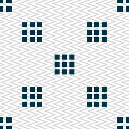 thumbnails: List menu, app icon sign. Seamless pattern with geometric texture. Vector illustration