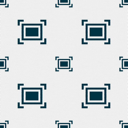registration: Crops and Registration Marks icon sign. Seamless pattern with geometric texture. Vector illustration