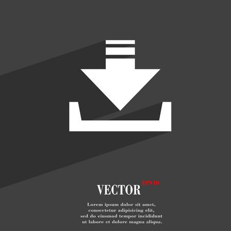Restaurer symbole plat web design moderne avec une longue ombre et de l'espace pour votre texte. Vector illustration Vecteurs