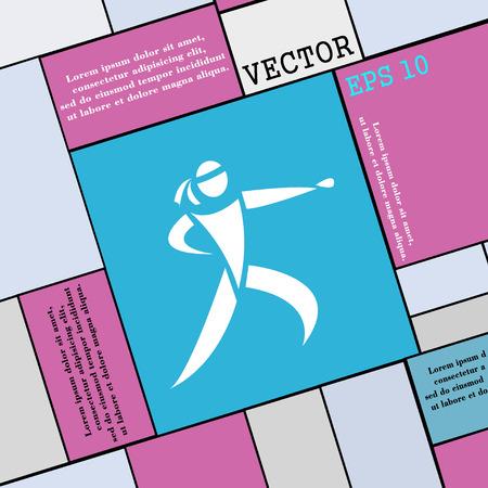jujitsu: Karate kick icon sign. Modern flat style for your design. Vector illustration