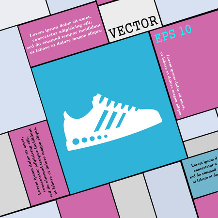 scamper: Sneakers icon sign. Modern flat style for your design. Vector illustration